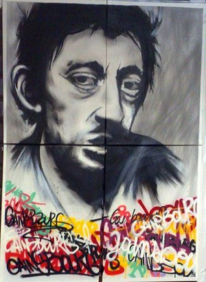 Graffiti chanteurs ( euses) 80,90 Gainsb10