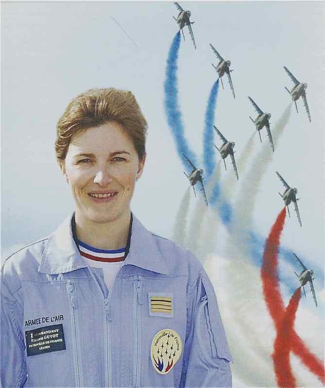 Virginie GUYOT, première leader de la Patrouille de France Guyot14