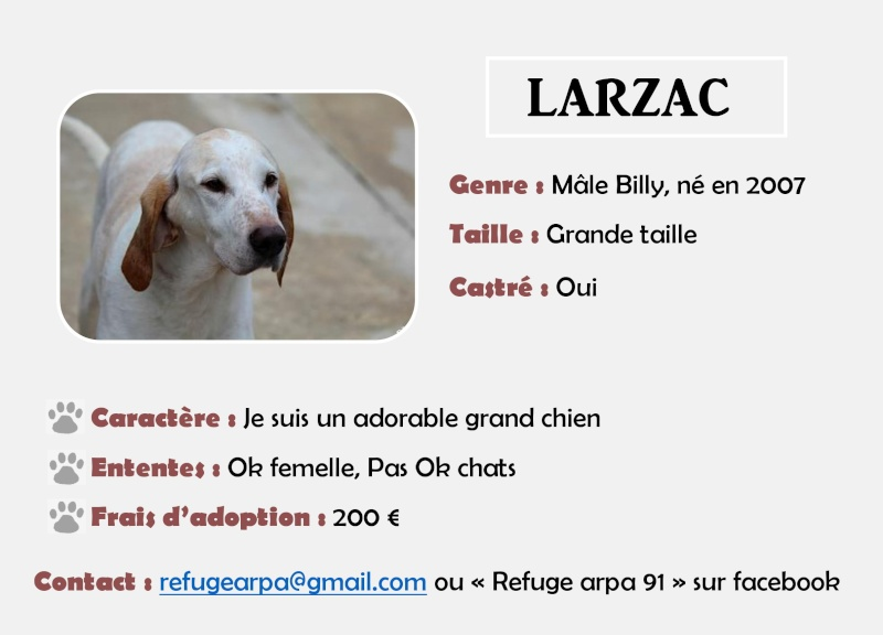 SOS pour LARZAC - courant billy 10 ans   (bientôt 7 ans de refuge)   - ARPA à Ris Orangis (91) Larzac10