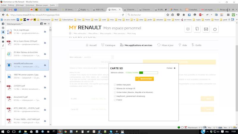 """comment faire passer un produit """"sans facture"""" de """"mes applications et services"""" de my renault sur la carte SD? Captur11"""