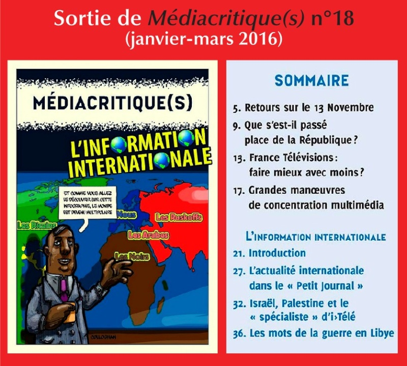 Sortie de Médiacritrique (s) N°18 (Janvier-Mars 2016) Scree136