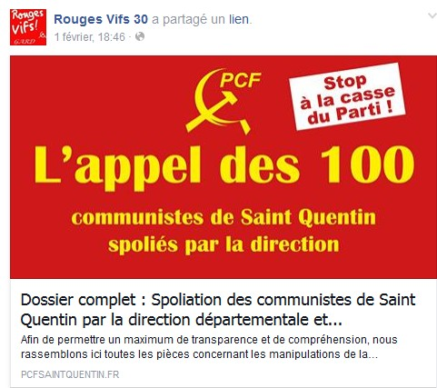 2017: le TRISTE SPECTACLE d'un ASSAUT contre  la VISEE COMMUNISTE Screen33