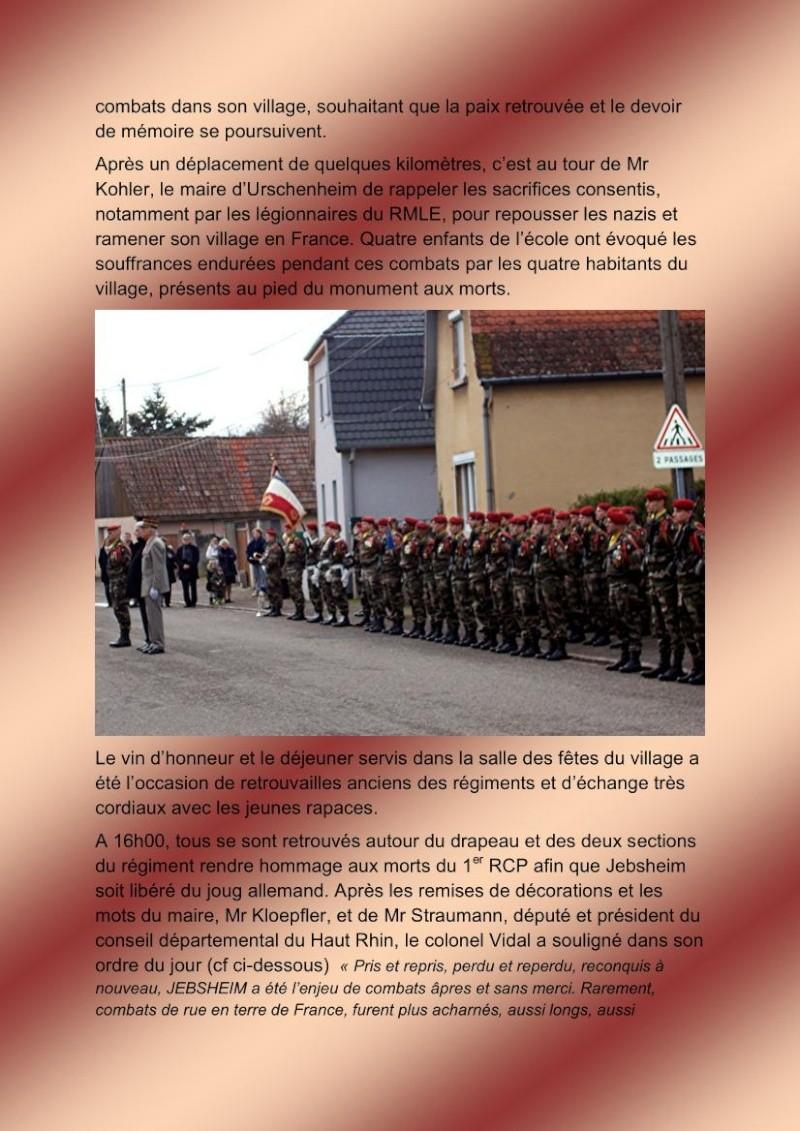 Jebsheim : 60 parachustistes du 1er RCP commémorent la libération de la Poche de Colmar Jebshe13