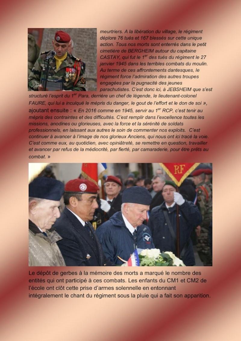 Jebsheim : 60 parachustistes du 1er RCP commémorent la libération de la Poche de Colmar Jebshe14