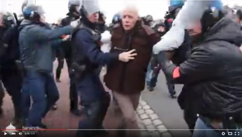 le général Piquemal sort du silence en venant à Calais malgré l'interdiction de la manifestation - arrestation du général Piquemal  Piquem10