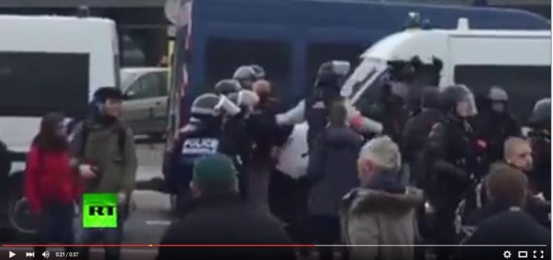 le général Piquemal sort du silence en venant à Calais malgré l'interdiction de la manifestation - arrestation du général Piquemal  Piquem11