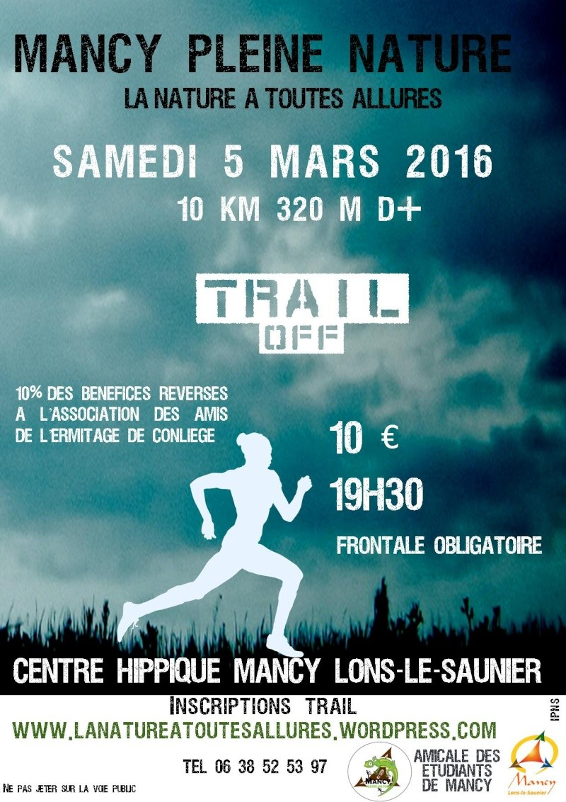 trail - Trail off au Lycée agricole de Mancy Lons-le-Saunier 16_02_13