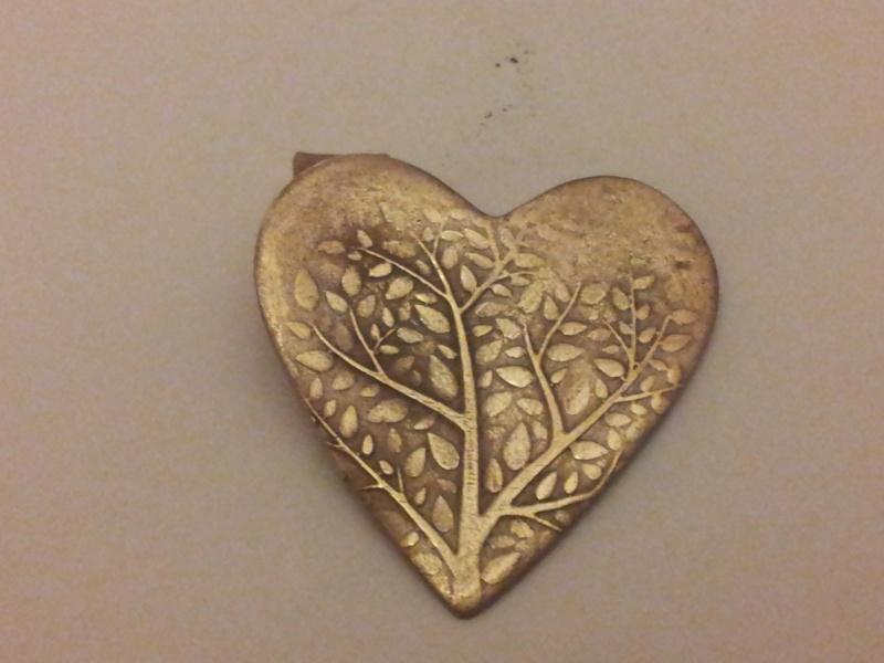 pendentif bronze doré UF 2016-016