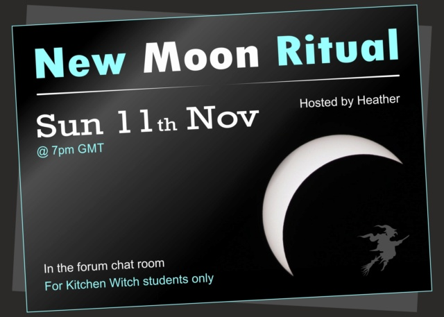 Online New Moon Ritual 11th November 2018 My_new11