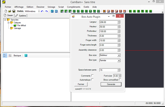 installation de s plugins sur mon PC portabele Cambam11