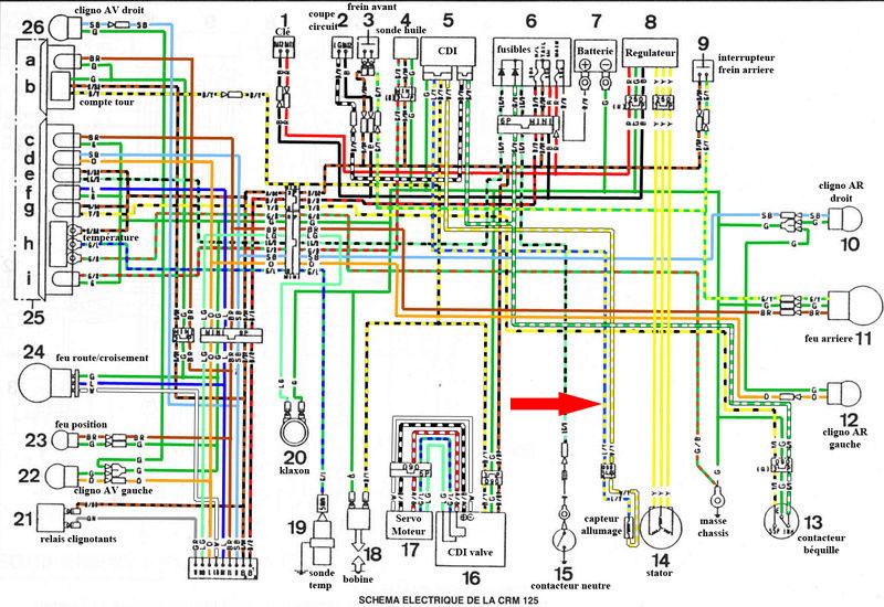 Emplacement de la diode cable du compte tour Compte10