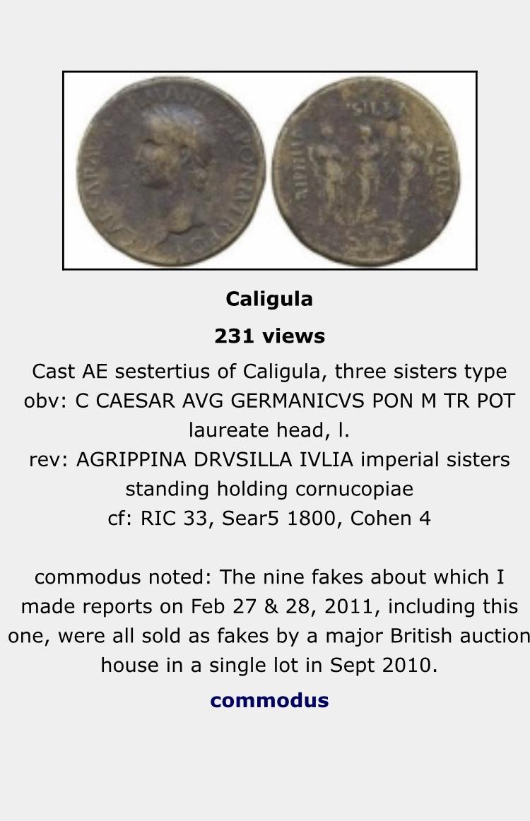 Sestercio de Calígula AGRIPPINA DRVSILLA IVLIA - S C. 8f72ce10