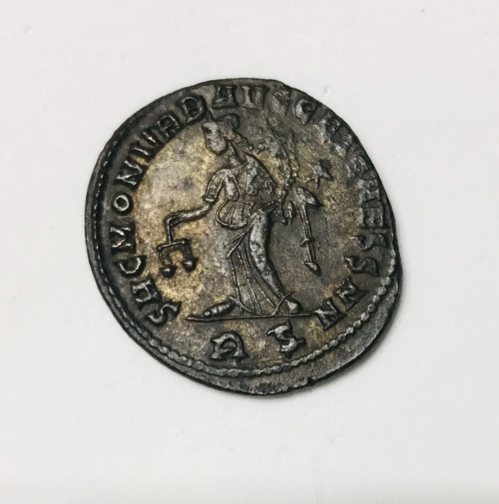 Nummus de Maximiano Hércules. SAC MON VRB AVGG ET CAESS NN. Moneda a izq. Roma D0e99c10