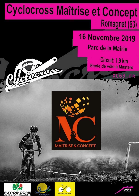 Cyclocross Maitrise et Concept de Romagnat 2019 Affich10