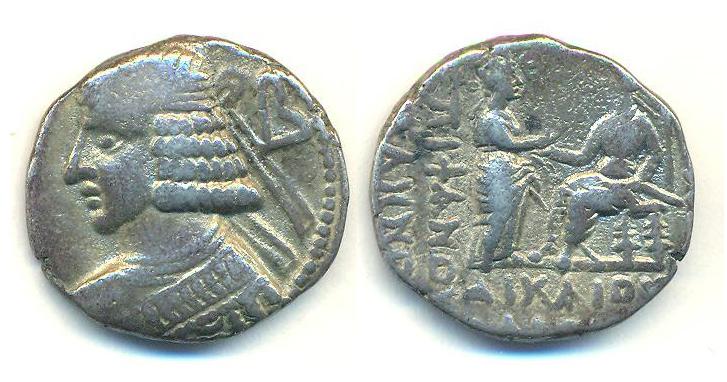 Partia Tetradracma Pacorus II Pacoru10
