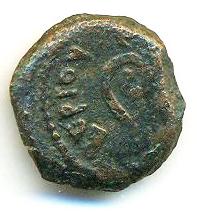 Prutah (Leptón) de Poncio Pilato. Jerusalén L IZ año 17 de Tiberio (30 - 31 d. C.)  Pilato10