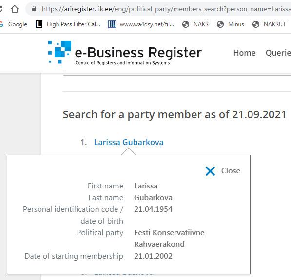 Лариса Губарькова, Николай Панков, Представитель Народа и др. Party10