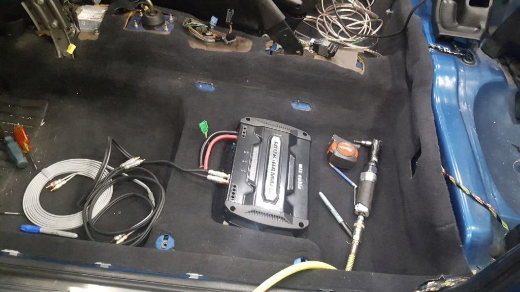 Connection de MALT/GRD pour ampli sous le siège Ampli10