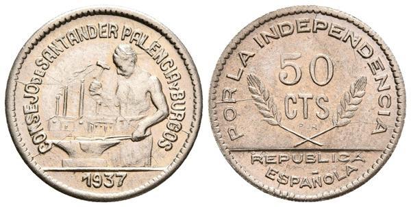50 Céntimos 1937. Consejo de Santander, Palencia y Burgos. Guerra Civil 20191017