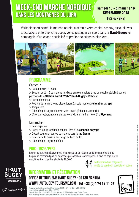 Stations Nordik Walk du Haut Bugey (01) - Parcours de Marche Nordique Affich10
