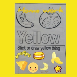 Teaching yellow colour Colla101