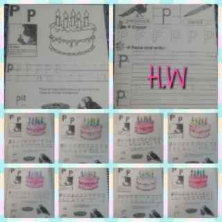 teaching letter Pp name, shape and sound Colla121