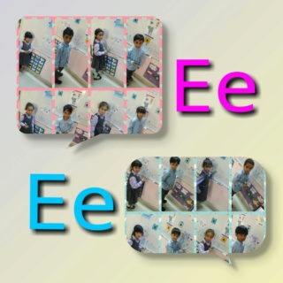 teaching letter Ee name, shape and sound Colla165