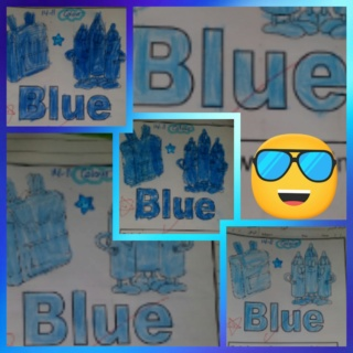 Teaching blue colour Colla167