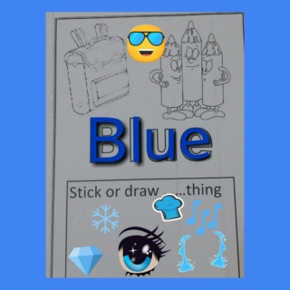 Teaching blue colour Colla168