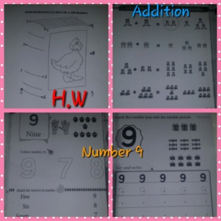 Teaching number 9 + simple addition Colla172