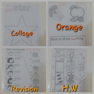 Teaching orange colour and star shape Colla182