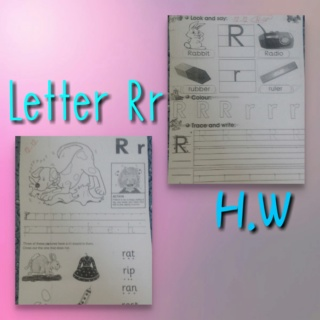 Teaching letter Rr name, shape and sound Colla186