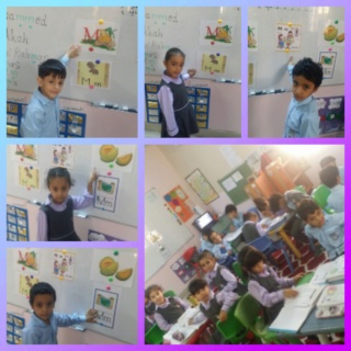 Teaching letter Mm name, shape and sound Colla203