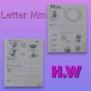 Teaching letter Mm name, shape and sound Colla204