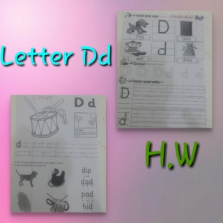 Teaching letter Dd name, shape and sound Colla212