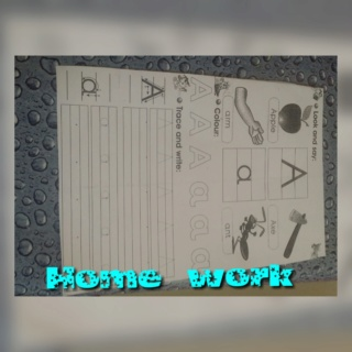 teaching letter Aa name, shape and sound Collag49