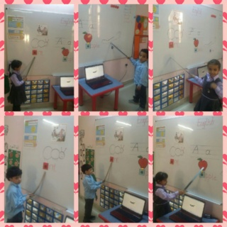 teaching letter Aa name, shape and sound Collag50