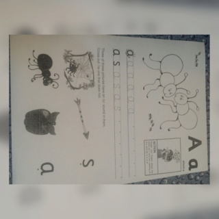 teaching letter Aa name, shape and sound Collag51