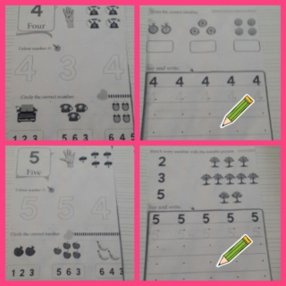 Teaching numbers 4 and 5 Collag98