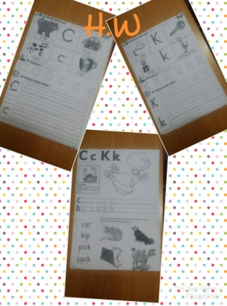 teaching letters Cc and Kk name, shape and sound Photog11