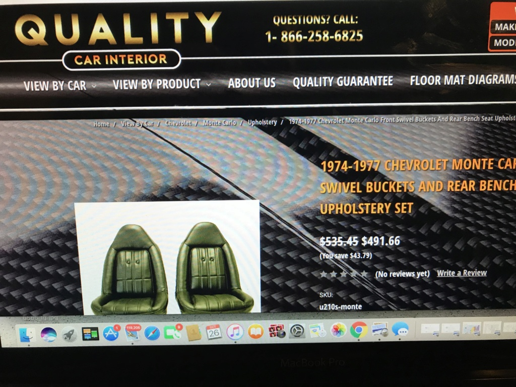 75 Laguna Bucket Seat Upholstery Set Install Img_2411