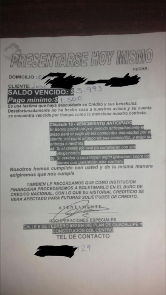 Deuda con Banco Azteca 2019-010