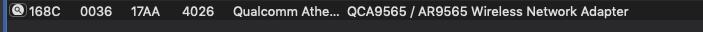 wifi qca9565 b50-70 ne fonctionne pas  mojave 10.14.6 Captur11