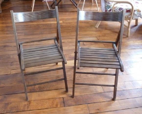 Donne 2 chaises pliantes (photo) Donne-10