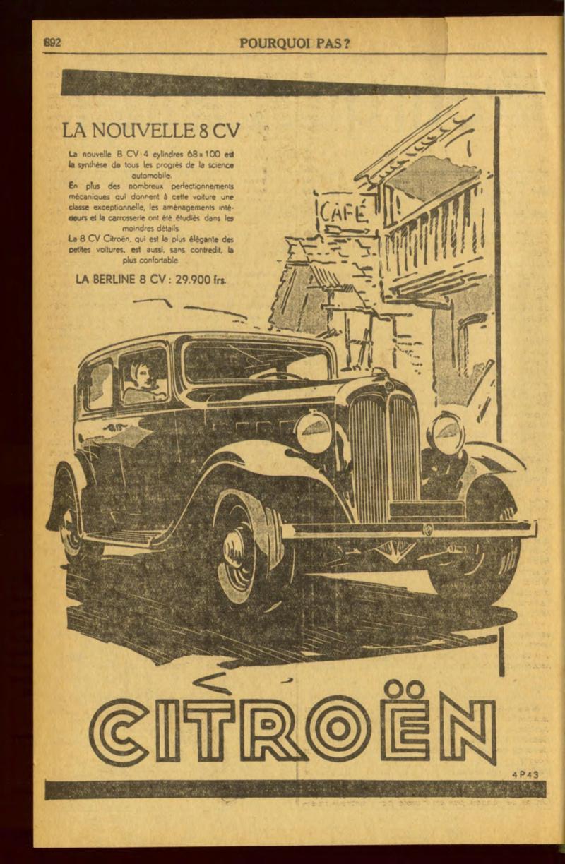 Publicités de CITROËN 8, 10 et 15 CV Pourqu12