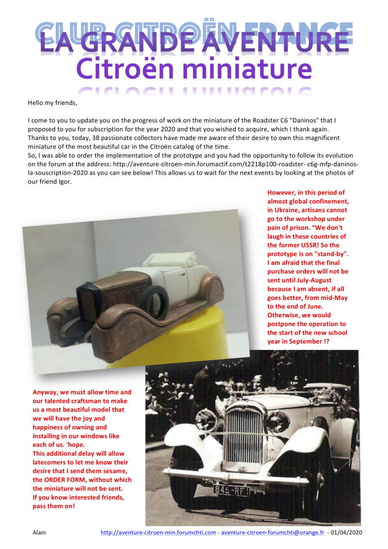 "Proposition miniature 2020 => C6G MFP Roadster ""Daninos"" de 1931 Retard10"