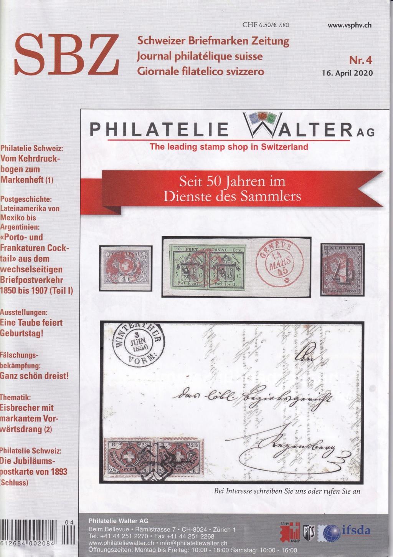 Schweizer Briefmarken Zeitung Nr. 4 Sbz410