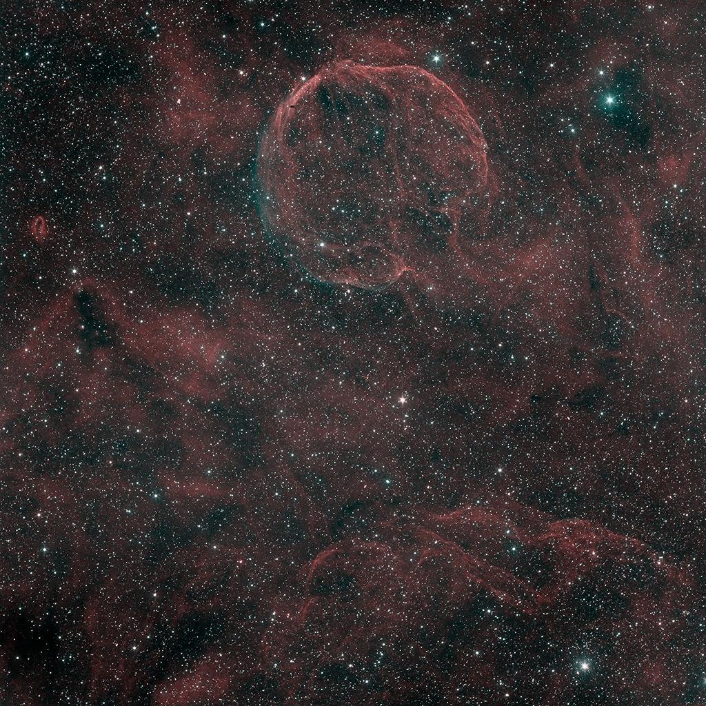 Un remanent de Supernova (CTB-1) en HOO Ctb1-s10