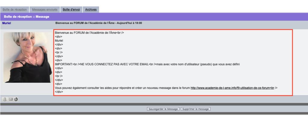 Affichage erroné du message de bienvenu pour tous les utilisateurs Bienve11