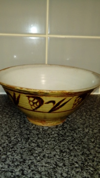 Unsigned Slipware Fruit Bowl. 20200167